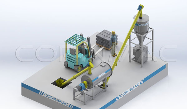 Mini-plant for the production of dry mixes 3-5t / h