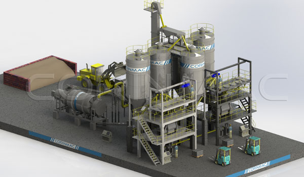 5-10t/h Dry Mortar Production Line