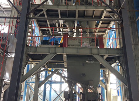 Construction dry mortar production line with an output of 10-15tph
