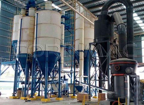 Malaysian marble grinding line and dry mortar production line output 3-5tph