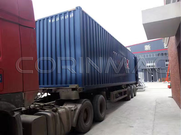 Mixer and dry mixing lines shipped to Africa