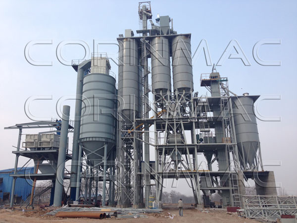 30-40 tons per hour construction dry powder mortar production line