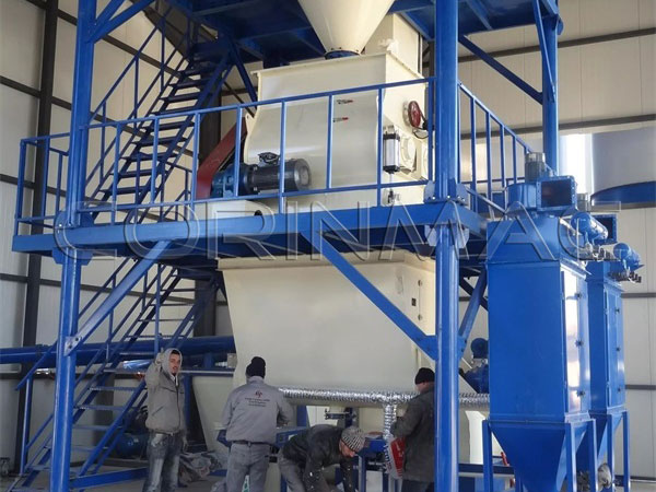 Dry mortar production line 8-10tph