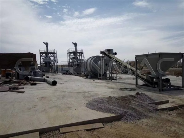 A double line for the production of dry mixes with a drying equipment in Kazakhstan.