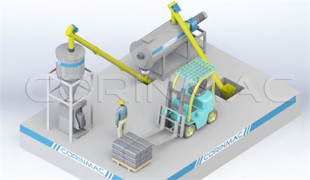 Simple Dry Mortar Production Line 1-3t/h